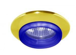 730С-W, светильник потолочный, MR16 G5.3 золото синий