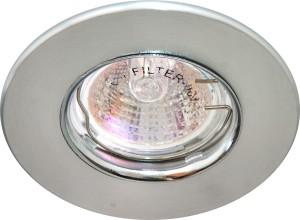 DL108-С, светильник потолочный встраиваемый, MR16  12V G5.3  матовый хром/хром