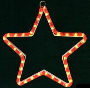 LT005, световая фигура - звезда, цвет свечения - красный