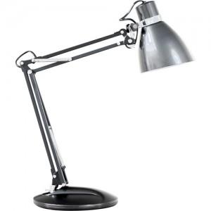 DE1404, настольный светильник, ESB 9W 230V E27 серебро с лампой