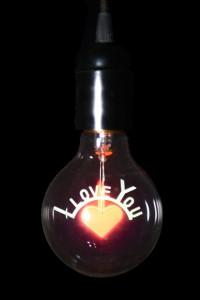 I love You, лампа декоративная, 240V, E27