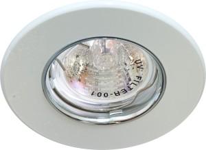 DL108-С, светильник потолочный встраиваемый, MR16  12V G5.3 белый/алюминий