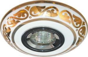 С2525, светильник потолочный встраиваемый, MR16  12V G5.3 золото,белый