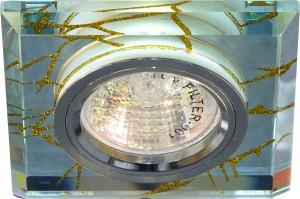 8149-2, светильник потолочный встраиваемый, MR16 G5.3 прозрачный, серебро