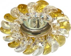 CD2316, светильник потолочный, MR16 G5.3 с прозрачным-желтым стеклом, золото, с лампой