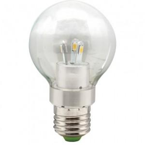 LB-41, лампа светодиодная,  6LED(3,5W) 230V E27 2700K большой шар A55