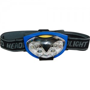 TH2256, фонарь налобный аккумуляторный сине-черный, IP44