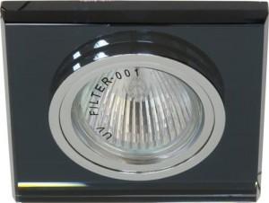 8170-2, светильник потолочный,  MR16 G5.3 серый,серебро