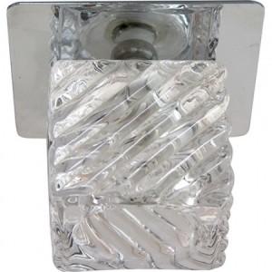 BS125-FA, Светильник потолочный со светодиодной лампой 5W с прозрачным стеклом,хром