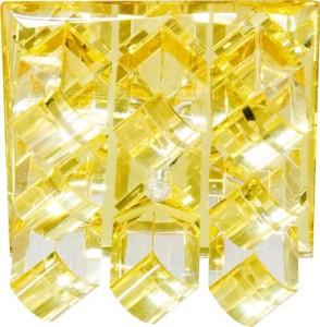1570, светильник потолочный, JC G4 с желтым стеклом, хром, с лампой