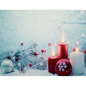 """LT114, световое панно  """"Свечи в снегу"""""""