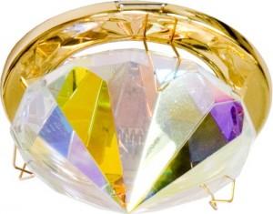 CD22, светильник потолочный, MR16 G5.3 с многоцветным стеклом, золото (с лампой)