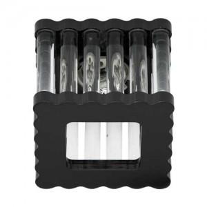 DL8195, светильник потолочный, JCD9 50W G9, черный, прозрачный, алюминий