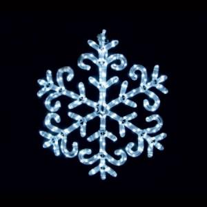 LT003, световая фигура - снежинка, цвет свечения - белый