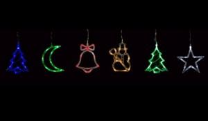 CL38, фигурки - 6 штук, цвет свечения - синий, зеленый, красный, белый, теплый белый