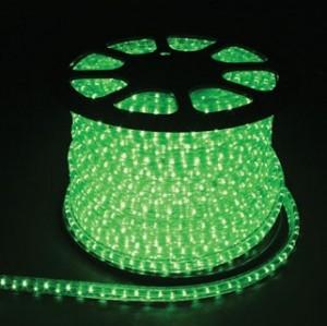 Дюралайт светодиодный, 2W 100м 230V 36LED/м 13мм, зеленый, LED-R2W