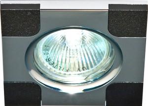DL191, светильник потолочный,  MR16 G5.3 черный и хром