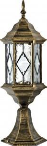 PL124, светильник садово-парковый, 60W 230V E27 черное золото