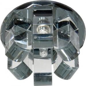 1569, светильник потолочный, JC G4 с черным стеклом, хром, с лампой
