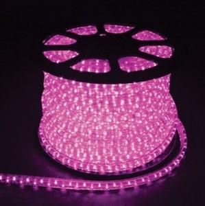 Дюралайт светодиодный, 3W 50м 230V 72LED/м 11х17мм, розовый, LED-F3W