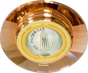 8130-2, светильник потолочный, MR11 G4 коричневый, золото