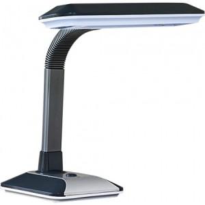 DE1100, светильник настольный,  ESТ 27W 230V G10Q серый с лампой
