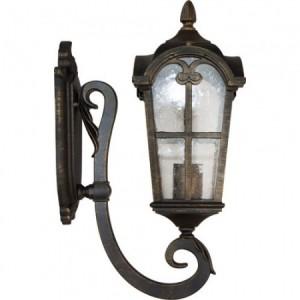 PL102, светильник садово-парковый, 60W 230V E27 черное золото