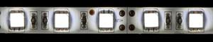 LS607, светодиодная лента влагозащищенная, цвет свечения: холодный белый, 5m, 7.2W/m, белое основание