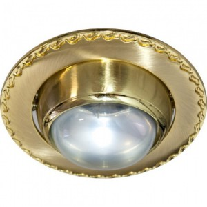 125-R39, светильник потолочный, R39 E14 матовое золото-золото