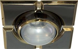 098-R50-S, светильник потолочный,  черный-золото