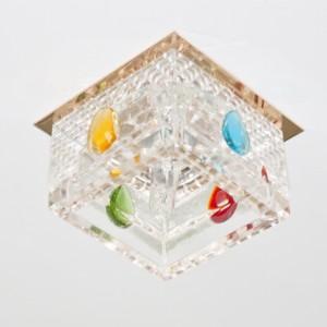 CD2815, светильник потолочный, CD/L JC 20W 12V/50HZ G4 прозрачный,золото, (с лампой)