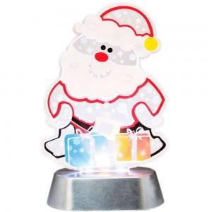 """LT096 Светодиодная новогодняя фигура на батарейках  """"Дед мороз с подарками"""""""