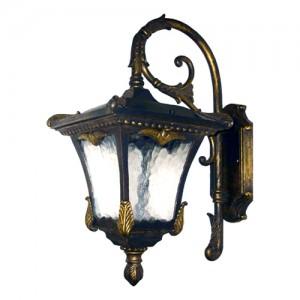 9003QM, светильник садово-парковый, 100W 230V E27 черное золото