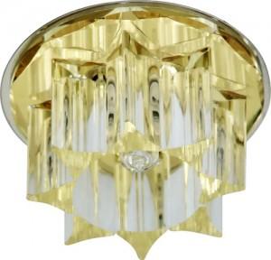 CD2500, светильник потолочный, JCD G9 с желтым стеклом, хром, с лампой