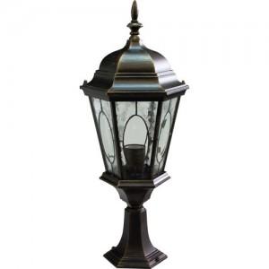 PL163, светильник садово-парковый, 60W 230V E27 черное золото