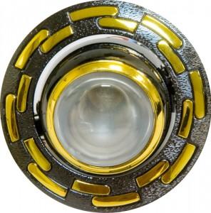 1726, светильник потолочный, R39 черный-золото