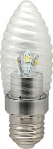 LB-77, лампа светодиодная, 6LED(3.5W) 230V E27 2700K свеча хром