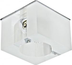 Светильник потолочный, JCD G9 с матовым стеклом, хром, с лампой, CD21