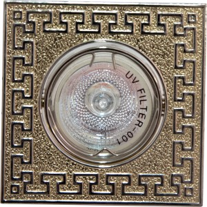"""2008SDL, светильник потолочный,  MR16 50W G5.3 """"квадрат"""" золото-титан"""