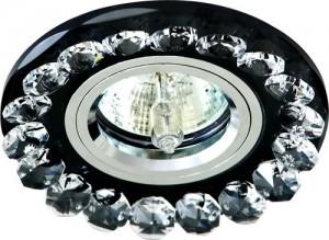 CD2520, светильник потолочный, MR16 G5.3 с черным стеклом,  хром, с лампой