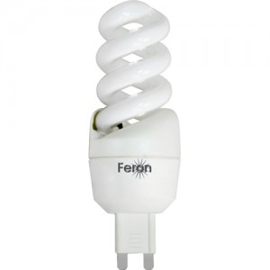 ELSM52A, лампа энергосберегающая, 7W 230V G9 6400K спираль T2