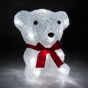 LT024, акриловая фигура - медведь маленький, цвет свечения - белый