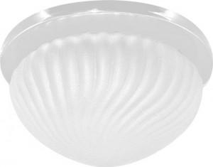DL121, светильник потолочный, JC G5.3 белый с матовым стеклом, c лампой