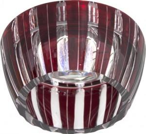 CD2324, светильник потолочный, MR16 G5.3 с красным стеклом, хром с лампой