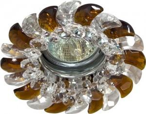 CD2316, светильник потолочный, MR16 G5.3 с прозрачным-коричневым стеклом, хром, с лампой