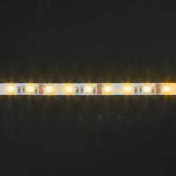 LS607, лента светодиодная влагозащищенная, цвет свечения: желтый на белом  основании,  5м 7.2W/m